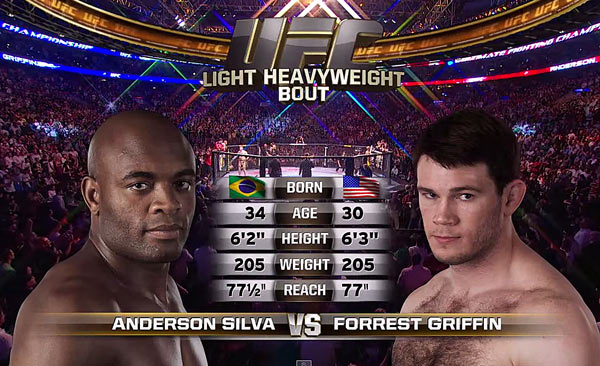Anderson Silva vs. Forrest Griffin
