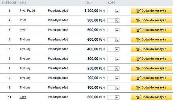 UFC Kraków ceny biletów