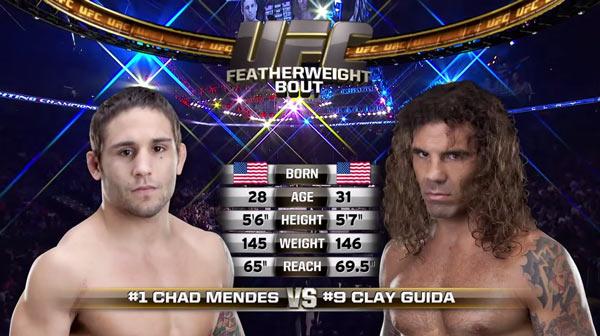 Chad Mendes vs. Clay Guida