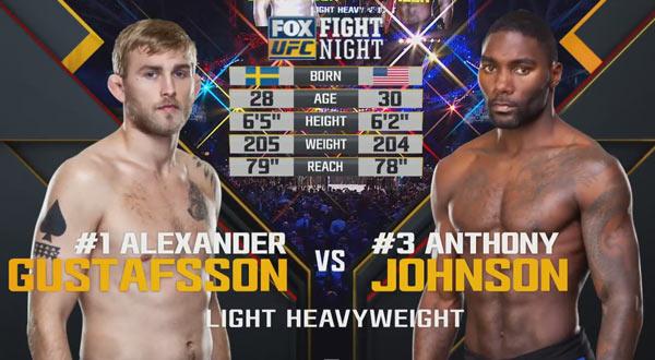 Anthony Johnson vs. Alexander Gustafsson