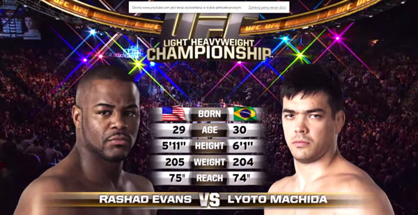 Lyoto Machida vs Rashad Evans