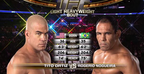 Antonio Rogerio Nogueira vs Tito Ortiz