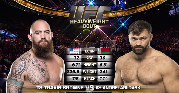 Andrei Arlovski vs Travis Browne