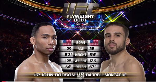 John Dodson vs Darrell Montague
