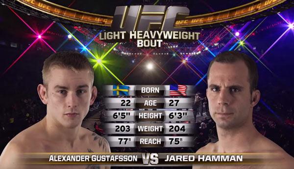 Alexander Gustafsson vs. Jared Hamman
