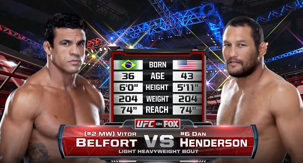 Vitor Belfort vs Dan Henderson