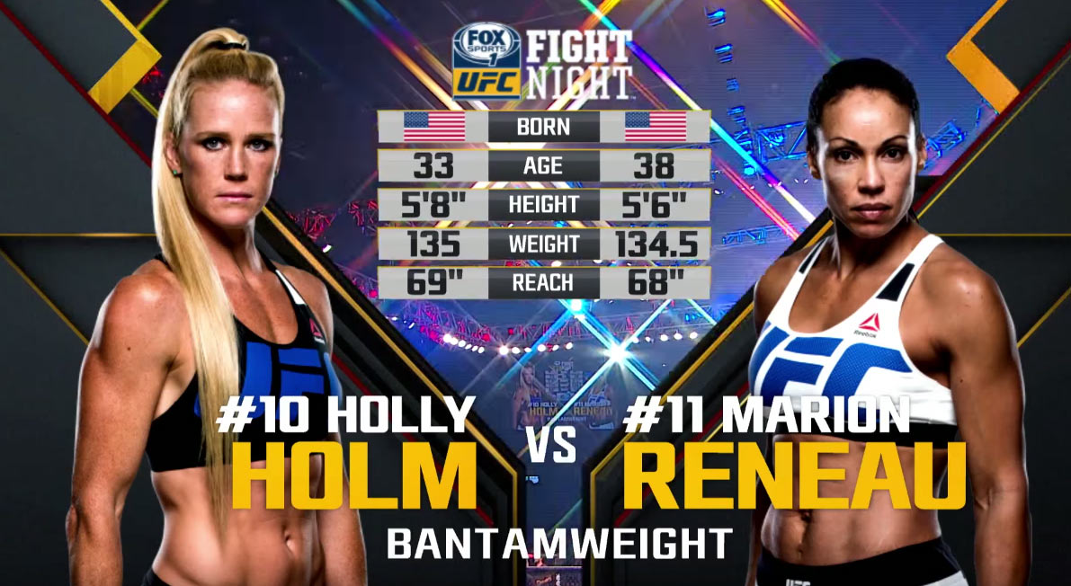 Holly Holm vs Marion Reneau
