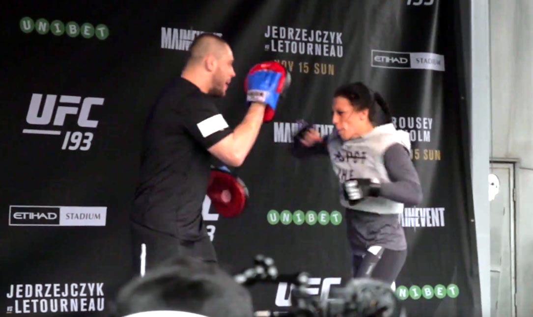 UFC 193: Open Workout Joanna