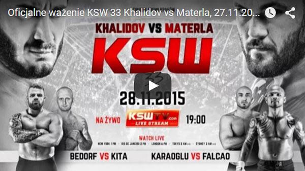 KSW 33 Oficjalne ważenie Live Video