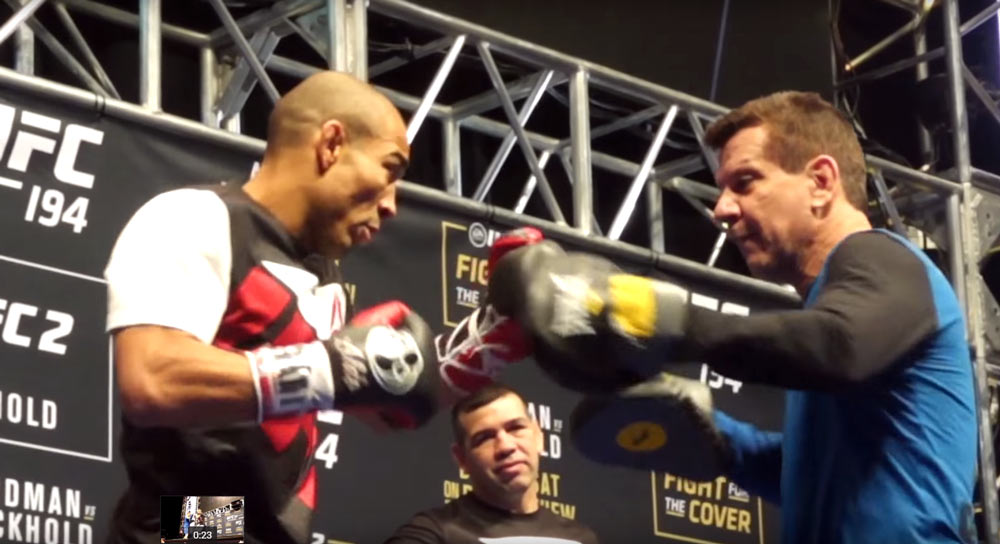 ufc 194 open workout