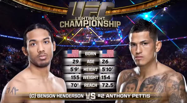 Anthony Pettis vs Benson Henderson