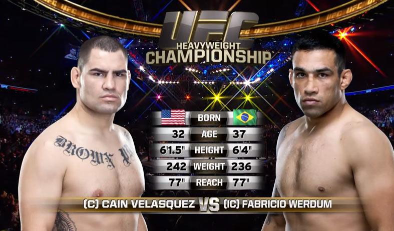 Fabricio Werdum vs Cain Velasquez