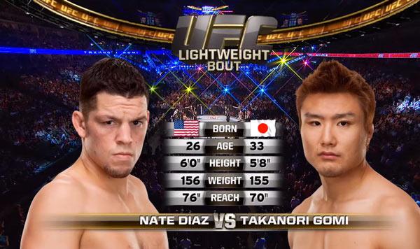 Nate Diaz vs Takanori Gomi