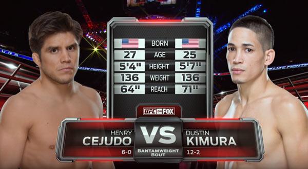 Henry Cejudo vs Dustin Kimura