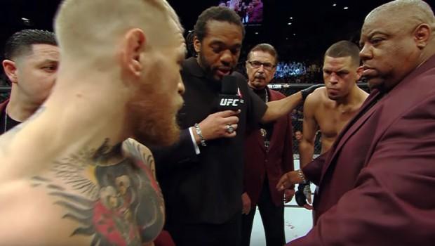Conor McGregor vs Nate Diaz 1 – video z walki w środku posta.